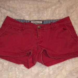 abercrombie & Fitch lowrise shorts